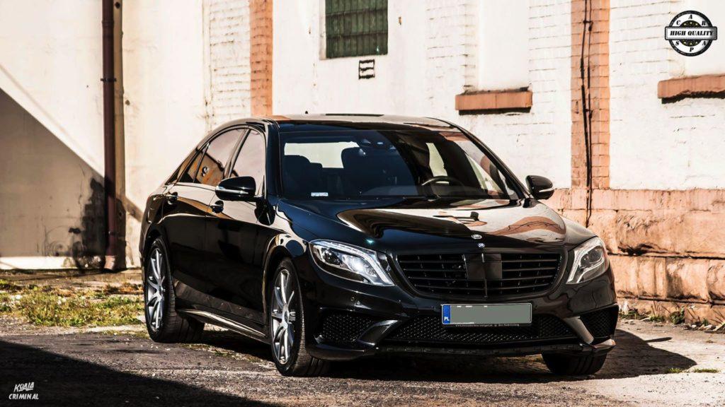 Mycie detailingowe Mercedes S AMG - przód