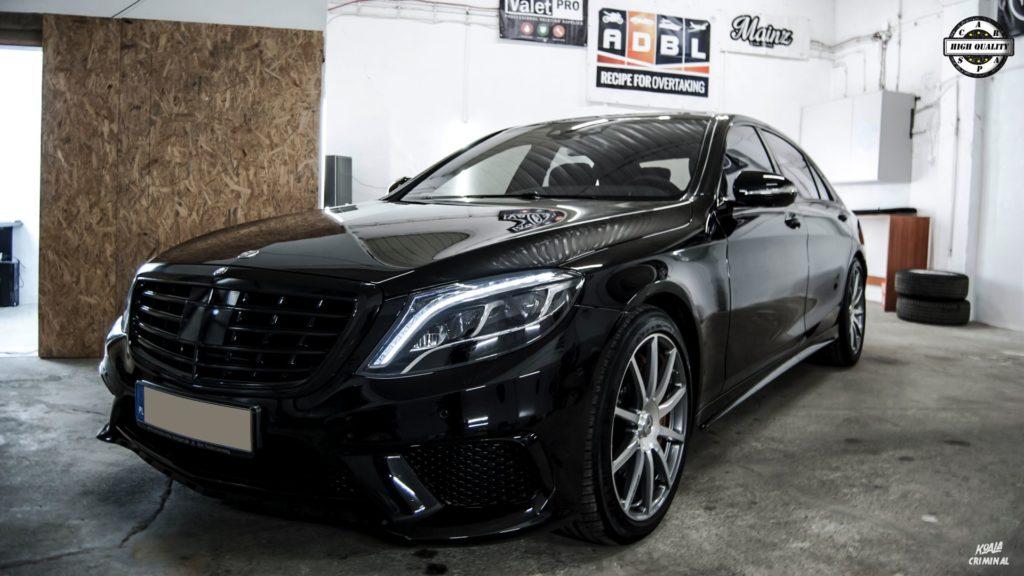 Mycie detailingowe Mercedes S AMG - przód 2
