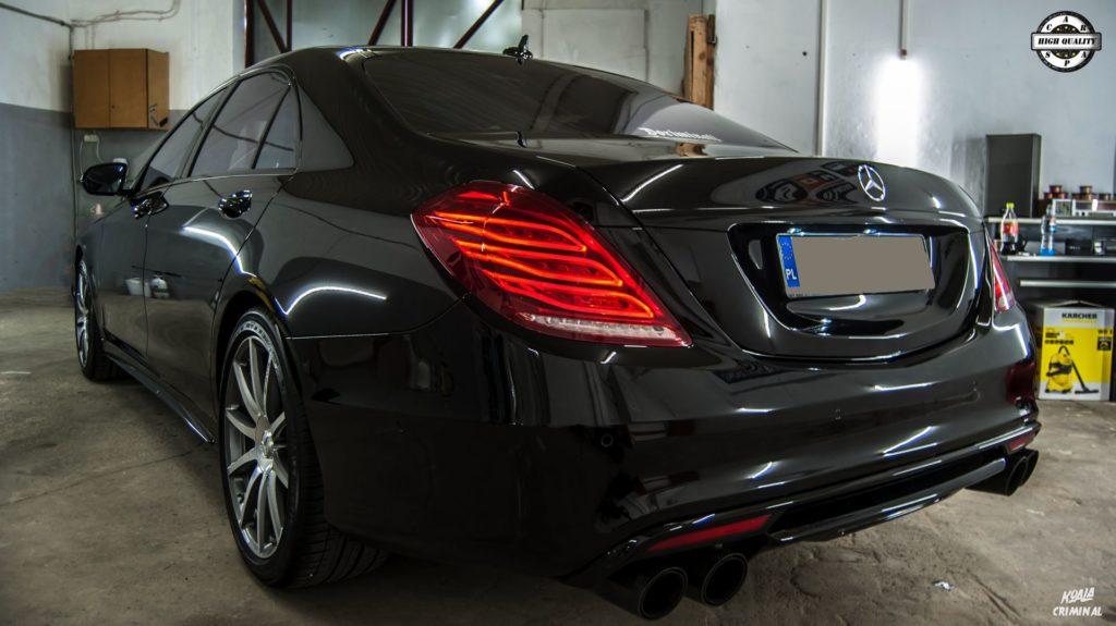 Mycie detailingowe Mercedes S AMG - tył