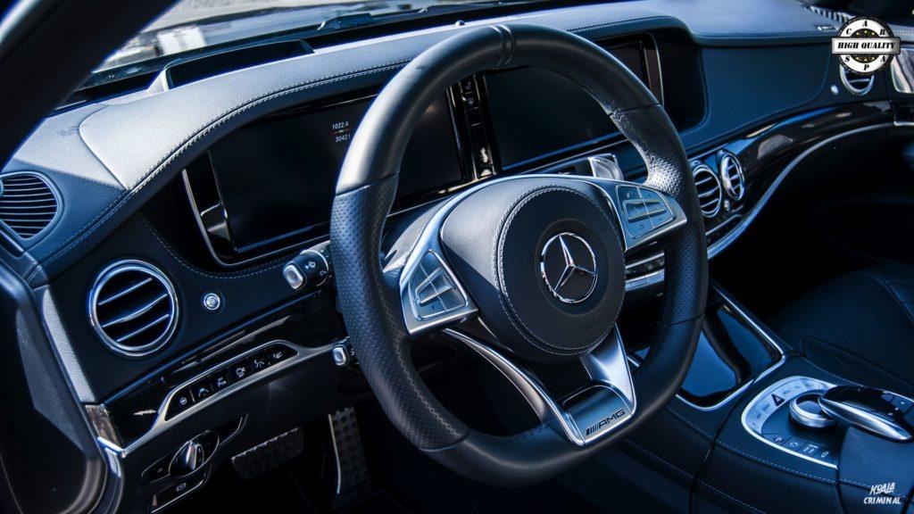 Mycie detailingowe Mercedes S AMG - wnętrze
