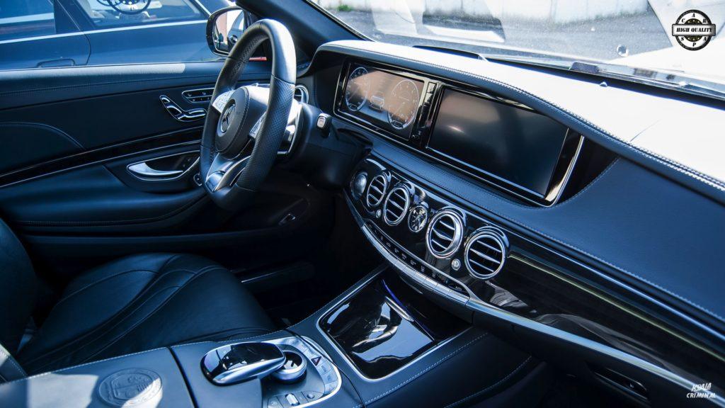 Mycie detailingowe Mercedes S AMG - kokpit
