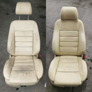 Renowacja skóry Audi A6 - fotel przed po 2