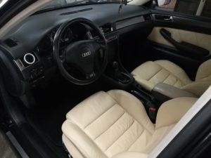 Renowacja skóry Audi A6 - kokpit