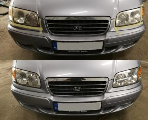 Polerowanie lamp Hyundai Trajet